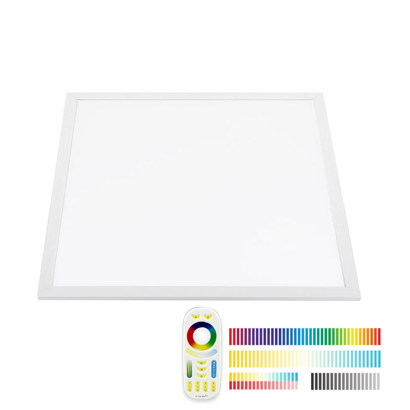 Panel LED 36W, RGB + Blanco DUAL, RF, 60x60cm